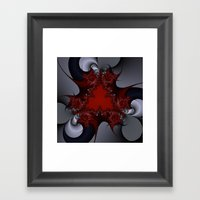 red blue and silver spurs Framed Art Print