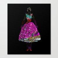 Audrey OZ Stardust Pink Glitter Dress Canvas Print
