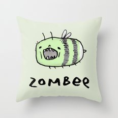 Zombee Throw Pillow