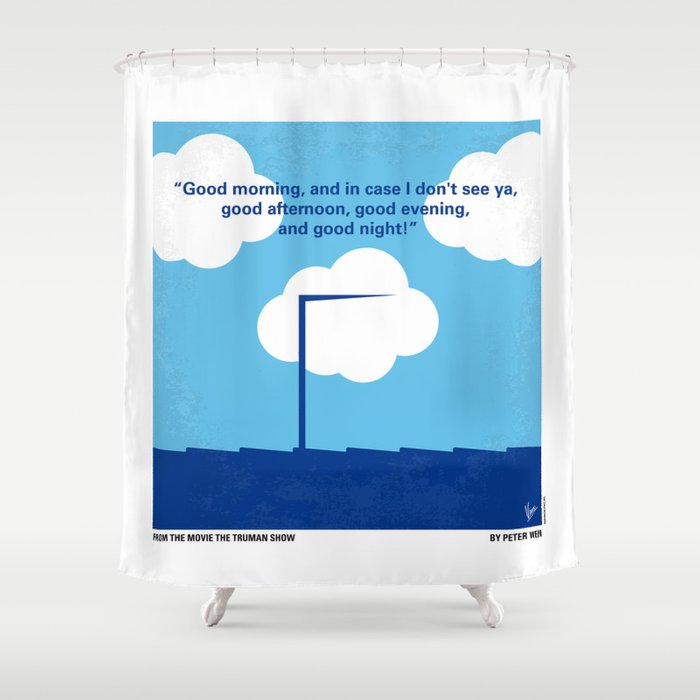 No234 My Truman Show Minimal Movie Poster Shower Curtain