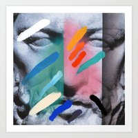 Art Print featuring Composition on Panel 6 by Chad Wys