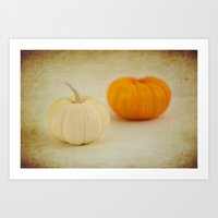 Two Pumpkins Art Print