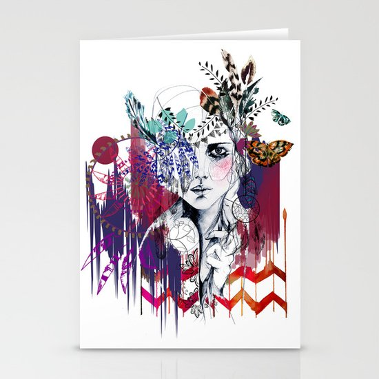Tribal Girl  Stationery Card