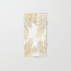 Gold palm leaves Hand & Bath Towel