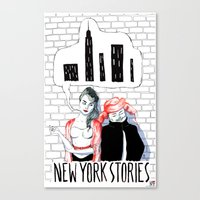 New York Stories Limited Edition Poster Canvas Print