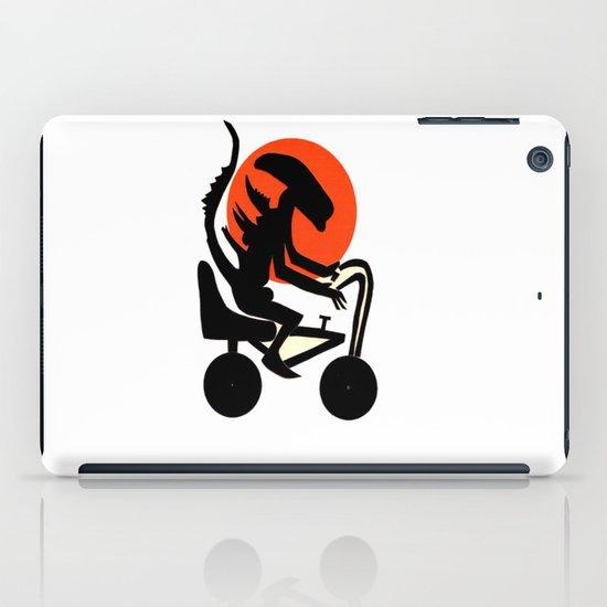 alien on a chopper iPad Case