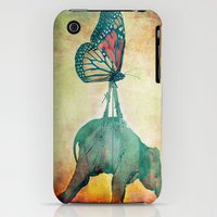iPhone 3Gs & iPhone 3G Cases featuring The elephant and the butterfly by Ganech joe