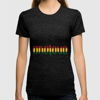 One Love Ambigram  Womens Fitted Tee Tri-Black SMALL