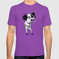 100% ORGANIC! Mens Fitted Tee Ultraviolet SMALL