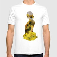 Yellow Meadow Mens Fitted Tee White SMALL
