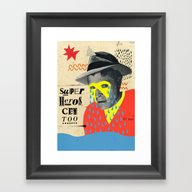 Superheros Cry Too Framed Art Print