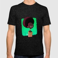 Black Woman Mens Fitted Tee Tri-Black SMALL