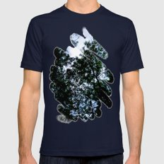 Looking Up To Paint Mens Fitted Tee Navy SMALL