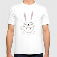 Take A Cup Of Bunny Mens Fitted Tee White SMALL
