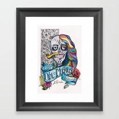 Día de Muertos ANALOG zine Framed Art Print