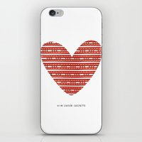 CORAZON (rojo) iPhone & iPod Skin