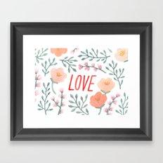 GARDEN OF LOVE Framed Art Print