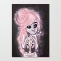 aliena skeleton Canvas Print