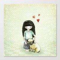 Pug Is My Best Friend Canvas Print