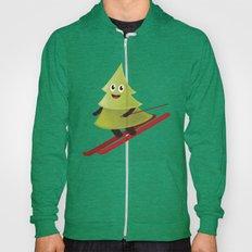 Happy Pine Tree On Ski Hoody