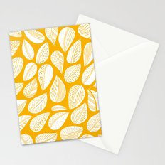 Yellow leaf Stationery Cards
