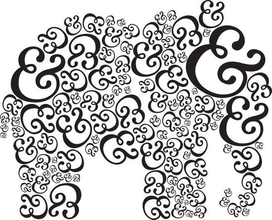 Ampersand Elephant Art Print