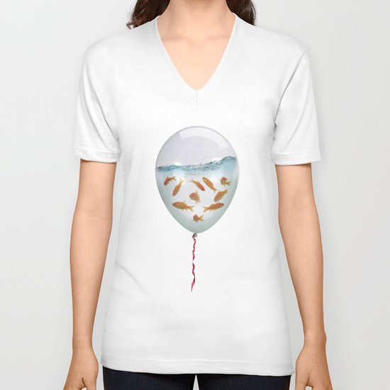 balloon fish 03 V-neck T-shirt