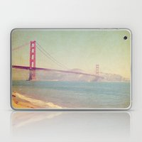 A Golden Day At The Beac… Laptop & iPad Skin