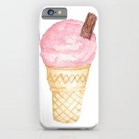 Watercolour Illustrated Ice Cream - Berries on Ice iPhone 6 Slim Case