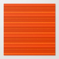 Lava - tribal geometrics Canvas Print
