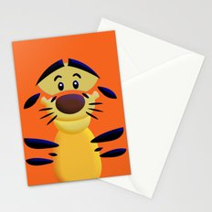 Cute Orange Cartoons Tiger Apple iPhone 4 4s 5 5s 5c, ipod, ipad, pillow case and tshirt Stationery Cards