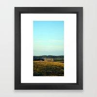 hill top Framed Art Print