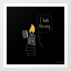 Mad Music Lighter Art Print