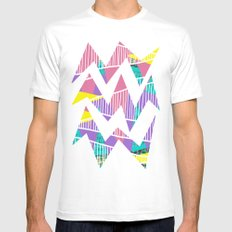 JungleParty White Mens Fitted Tee SMALL