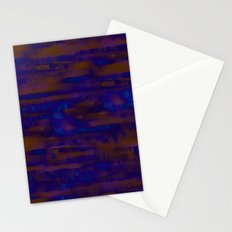 Lines ~ Abstract  Rust Stationery Cards