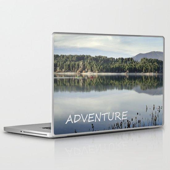 Adventure. Canoeing on the lake.  Laptop & iPad Skin