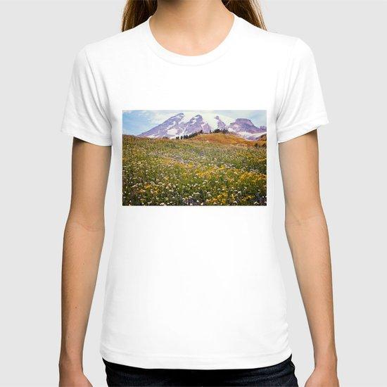 Rainier Flowers T-shirt