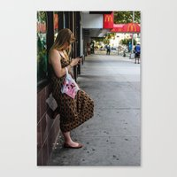 Leaning, Waiting Canvas Print