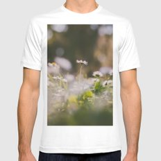 White Daisy White SMALL Mens Fitted Tee