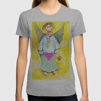 St. Valentine's Angel Womens Fitted Tee Athletic Grey SMALL