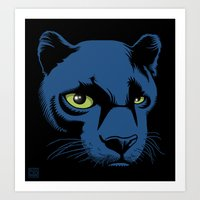 Black Panther Head Art Print