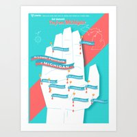 My Hand is a Map! Art Print