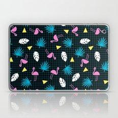 Sketchy - memphis wacka design throwback neon 1980s 80s style retro pattern grid flamingo tropical  Laptop & iPad Skin