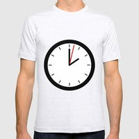 #33 Clock Mens Fitted Tee Ash Grey SMALL