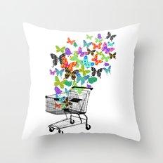 Urban Butterflies Throw Pillow