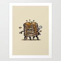 Pancake Bot Art Print