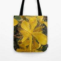 Hypericum Flower Closeup Tote Bag