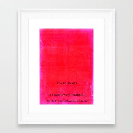 Nosferatu - A Symphony of Horror Framed Art Print
