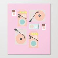 Music Lover Pastel Canvas Print