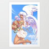 Angel Bloom Art Print